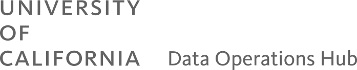 University of California Data Operations Hub